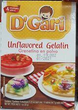 D'gari Unflavored Gelatin Artisan Gelatin - Grenetina En Polvo Sin Sabor - 1 Box
