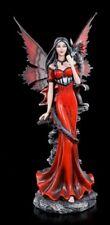 Elves Figurine - Garnet with Dragon Shoulder - Fantasy Fairies Statue
