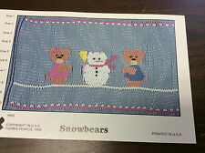 FANCY STITCHES SMOCKING PLATE # 045 SNOWBEARS