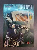 1995-96 Fleer Skybox Impact Deflectors #3 Felix Potvin Toronto Maple Leafs