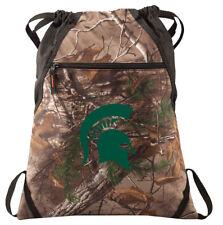 Michigan State Camo Cinch Pack REALTREE Michigan State University Drawstring Bag