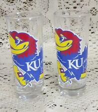 Kansas Jayhawks liscensed shot glass set of 2