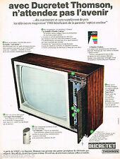 PUBLICITE ADVERTISING 055  1967  DUCRETET-THOMSON  téléviseur avec le TELECOUTE