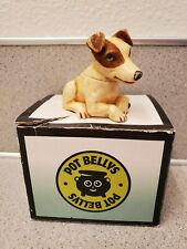 2004 Pot Bellys Dog named Trump with Box, Harmony Ball, Brown and Ivory Color
