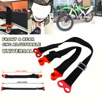 CNC Adjustable Fornt Rear Motocycle Pull Rein Handle Lift Belt Tow Rope Strap 2X