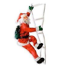 Maxstore Weihnachtsmann auf Leuchtleiter 240 cm