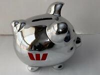 Silver Piggy Bank / Money Box ~ Westpac Bank
