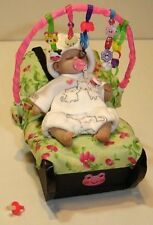 "MINIATURE 3 1/4"" SLEEPING PLATINUM SILICONE BABY GIRL ANATOMICALLY COR W/ACCESSO"