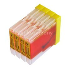 4x Yellow Brother LC970 LC1000 DCP-135C DCP-150C MFC-235C MFC-260 kompatibel