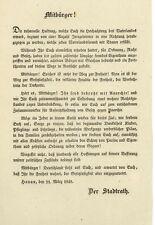 Revolution von 1848 - HANAU - Seltene Flugschrift des Stadtrats
