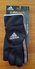 NEW Adidas Men's M/L ClimaWarm Voyager Run Gloves BLACK Tech ZIP POCKET #535618