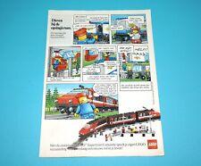 LEGO MAGAZINE ADVERT TRAINS 1980s EPPO BENELUX