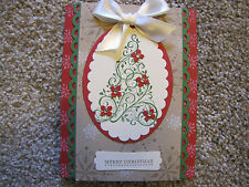 Merry Christmas Snow Swirled Tree Handmade Card Kit lot with some Stampin Up 4