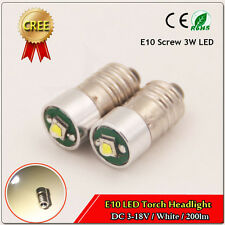 2X Screw Fit LED E10 Bulb for MGB / Midget Interior Dashboard Lights CREE 3V-18V