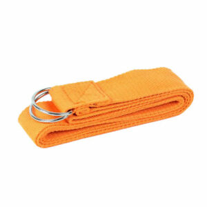 2PCs Yoga Straps Durable Cotton Stretch Bands D-ring for Pilates Gym New