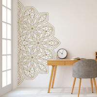 Mandala in Half Wall Sticker, Removable Wall Decal, Sticker for Meditation #5