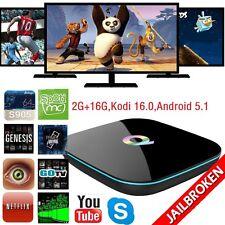 Q-BOX HDMI 4K Smart TV Box S905 Wifi BT4.0 Android 5.1 Kodi16.0 2G+16G #EBY