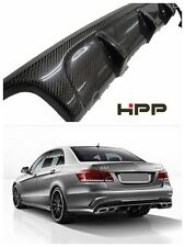 For Mercedes Benz W212 Sedan Estate Carbon Fiber Rear Diffuser V Style E63 AMG