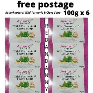 Ayuuri Natural Wild Turmeric & Clove Soap 100g X 6