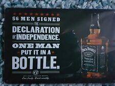 Jack Daniel's Declaration Of Independence Metal Sign Plaque ManCave Pubbar Shed