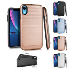 "for Apple iPhone XR 6.1"" Carbon Fiber Impact Slim Shockproof Case Cover+Tool"