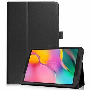 """BLACK PU Slim Folio Case Cover For Samsung Galaxy Tab A 8.0"""" 2019 SM-T290/295"""