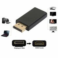 Adaptor Converter Display Port DP Male To HDMI Female Adaptor Fit HDTV Useful