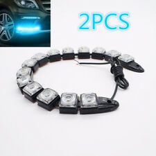 2x COB Headlight Accessories Flexible Diced 14 LED Car Driving Fog Lamp Custom