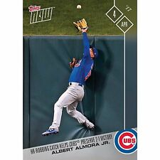 2017 TOPPS NOW #11 ALBERT ALMORA JR. HR ROBBING CATCH SAVES WIN FOR CUBS
