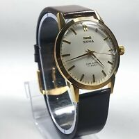 Vintage Hmt Sona Mechanical Hand Winding Movement Mens Analog Wrist Watch D283
