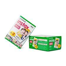 2 Paquetes doble (40 Fotos) Fuji Instax mini Película Instantánea, fotos a color