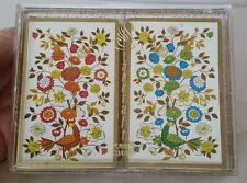 Vintage Double Deck Stancraft Playing Cards Birds Flowers
