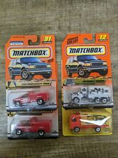 MATCHBOX Peterbilt Dairy Line, Volvo Container Ford Dump Utility Truck lot
