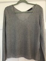 M&S Collection. Ladies Silver Grey Jumper Top. Size 14. Great Condition