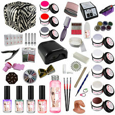 UV GEL SET XXXL Set principianti Nagelstudioset Manicure Set unghie S/S/Zebra