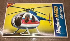 NIB Nichimo 1/20 Hughes H-500 Motorized Helicopter Model Kit - Rare, Vintage!