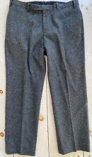 Men's Billy Reid Herringbone Wool Tweed Trousers Charcoal Sz 40 Pants Italy