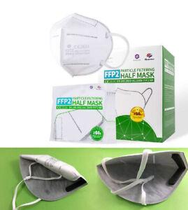40 Stück Box - FFP2 Mundschutz Maske, 4-lagig, CE zertifizierte Atemschutzmaske