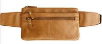 Vintage Handcrafted Cowhide Leather Fanny Pack Waist Travel Money Belt Bag