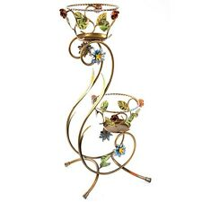Vases Flower pot a plant holder 2 posts iron height 72 cm