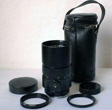 Leica 180mm F2.8 Leitz Wetzlar Elmarit-R (I) 2 CAM Lens w/ Filter Ring and Case