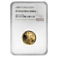 1989 P 1/4 oz $10 Proof Gold American Eagle NGC PF 70 UCAM