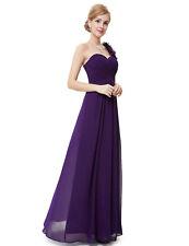 One-Shoulder Evening Cocktail Formal Purple Bridesmaid Dress Homecoming Dresses