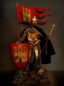 "12"" CUSTOM SANCHO II, KING OF CASTILE MEDIEVAL CRUSADER KNIGHT 1/6 FIGURE IGNITE"