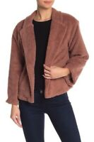 14th & Union Faux Shearling Teddy Coat NWT XL Petite Pink Mauve