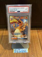 PSA 9 Charizard GX 9/68 Hidden Fates Pokemon Card
