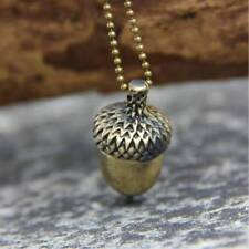 Fashion Women Acorn Necklace Retro Charm Bronze Sweater Chain Necklace Jewelry U