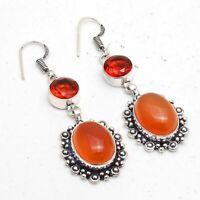 Carnelian,Garnet Ethnic Jewelry Handmade Earring ME-2069