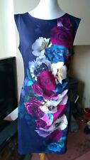 Phase Eight rose print wiggle pencil dress size 14