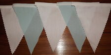 Fabric Bunting Duck Egg Blue & White Wedding Party Decoration 2 mt or more